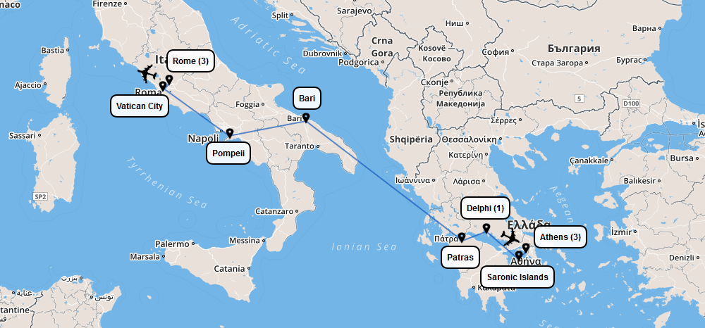 Italy & Greece – Prometour Educational Tours